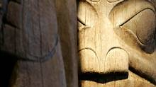 Haida Totem Poles in the newly renovated Museum of Anthropology at UBC in Vancouver, B.C. (LAURA LEYSHON/Laura Leyshon/ The Globe and Mail)