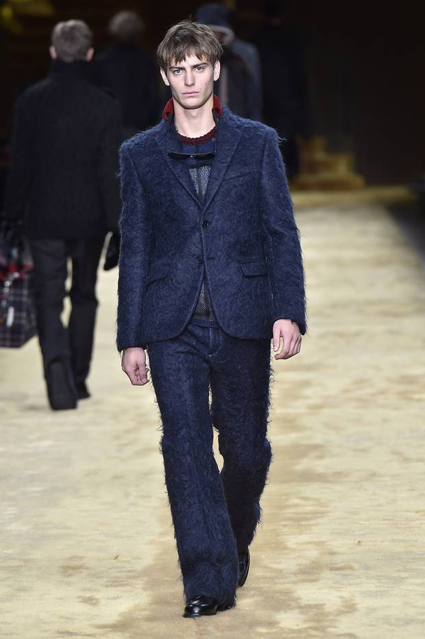 Fendi: Reminiscent of a shag carpet, this fuzzy suit is made for those more adventurous in the boardroom.