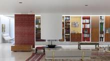The Miller house's interior, built by architect Eero Saarinen and designed by Alexander Girard, has barely changed since its completion in 1957. (Indianapolis Museum of Art)