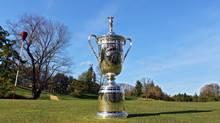 U.S. Open trophy at Merion Golf Club