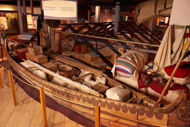 The museum's North Canoe display.