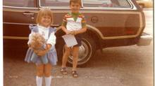 Dianne Nice and her brother in 1978. Back then parents had to be more creative to keep kids entertained during a road trip.