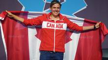 The captain of Canada's women's soccer team Christine Sinclair of Burnaby, B.C. was named the flag bearer for the closing ceremony at the Canadian Olympic Committee closing press conference for the 2012 London Olympics, Sunday, Aug. 12, 2012. (The Canadian Press)