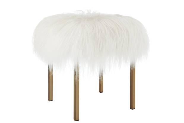 Sheepskin stool, $499 at CB2 (cb2.com).