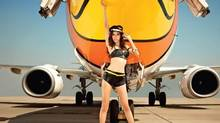 A Nok Air model: No, that's not what the flight attendants wear.