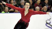 Patrick Chan skates during the Men free program at the Canadian Figure Skating Championships in Moncton, New Brunswick January 22, 2012. (MIKE CASSESE/Reuters)