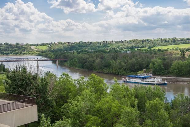 The North Saskatchewan River in Edmonton.
