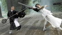 "Still from ""The Sorcerer and the White Snake"" starring Jet Li and Shengyi Huang."