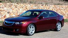 Larger wheels and a V-6 badge on the deck lid are the only visible signs that this is a more powerful TSX V-6.