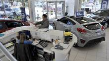 File photo of a car dealership in Mississauga. (J.P. Moczulski for The Globe and Mail)