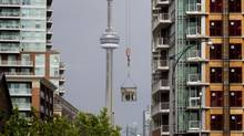 Condominium development in the Liberty Village area of Toronto. (Peter Power/The Globe and Mail)