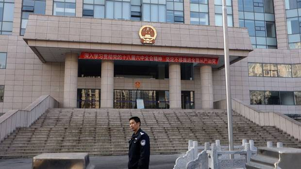 The law courts building in Wuhu. Here, an appeal hearing for Wilson Wang was abruptly cancelled as his lawyer sought to call Chinese President Xi Jinping as a witness.