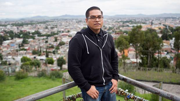 Agustin Meza, 30, was brought illegally into the united States when he was three years old and he grew up in San Diego. As an adult, he decided to return to Mexico.