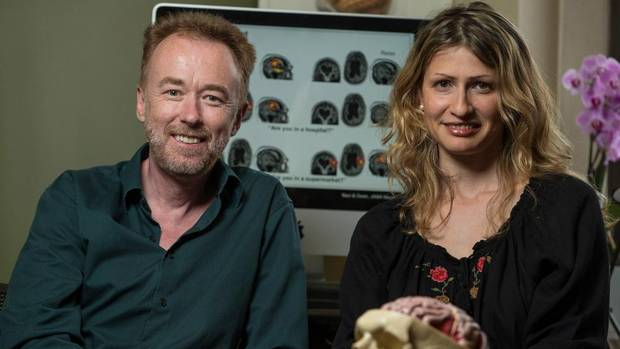 University of Western Ontario neuroscientists Adrian Owen and Lorina Naci. (THE CANADIAN PRESS)
