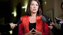 Danielle Smith, leader of Alberta's Wildrose Party, suggests kilometre-wide swath of land so energy projects don't get bogged down in approvals. (Jeff McIntosh/The Canadian Press)