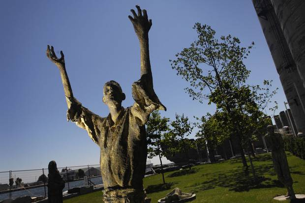 At Toronto's Ireland Park, statues by Irish sculptor Rowan Gillespie represent the tens of thousands of Irish Famine victims who came to the city in the summer of 1847.