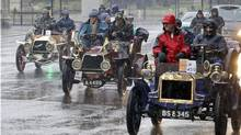 All the cars in the London to Brighton Veteran Car Run must be pre-1905 to qualify. (Lefteris Pitarakis/AP Photo)
