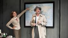 Diana Donnelly as Belle Browning and Kevin McGarry as Bob Tarkenton in Peace in Our Time: A Comedy. (Emily Cooper)