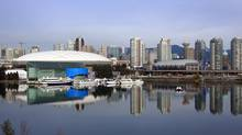 A view of downtown Vancouver showing False Creek, GM Place and BC Place November 4, 2009 in Vancouver, Canada. (Jeff Vinnick/Jeff Vinnick/ Getty Images)