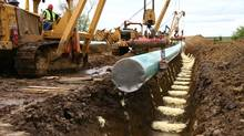 TransCanada Corp.'s Keystone XL pipeline. (Nathan VanderKlippe/The Globe and Mail)