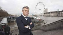 Ola Rollen, the president and CEO of Hexagon AB, poses by the London Eye. In the shadow of well-known brands like Volvo and Ericsson, an acquisition-packed decade has made technology firm Hexagon one of Sweden's most valuable companies and a rare newcomer among its top blue chips. (HANDOUT/REUTERS)