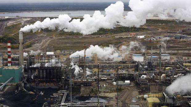 The processing facility at the Suncor tar sands operations near Fort McMurray, Alta. Balancing the needs of a resource-based economy while also trying to combat climate change will be one of Trudeau's great conundrums.