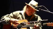 Neil Young in concert in Vancouver in 2009 (Jeff Vinnick/The Globe and Mail)