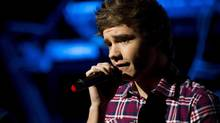 This is a Saturday, May 26 2012 file photo of One Direction member Liam Payne as he performs in concert in New York. (Charles Sykes/AP)