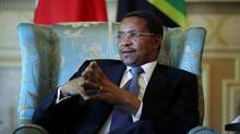 Tanzania's President Jakaya Kikwete during an interview at Rideau Hall in Ottawa. (Dave Chan For The Globe and Mail)