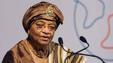 President of Liberia, Ellen Johnson-Sirleaf. (PAUL HACKETT/Reuters)