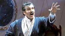 """James Westman as Sandy Keith in Calgary Opera's """"The Inventor"""" (Trudie Lee)"""