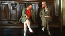 Sen. Fairbairn and Pierre Trudeau chatting in the foyer of the House of Commons (Jean-Marc Carisse/Handout)