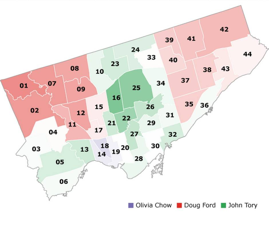Divided we stand: The numbers behind Toronto's electoral results