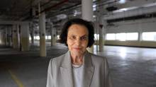 Sonja Bata in the factory where she dreams of putting condos and research incubators. (Fred Lum/Fred Lum/THE GLOBE AND MAIL)