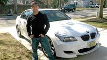 Frankie Edgar and his BMW M5.