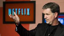Reed Hastings, CEO of Netflix, announces Netflix's expansion to Canada in Toronto, on Wednesday, September 22, 2010. (Adrien Veczan/THE CANADIAN PRESS)