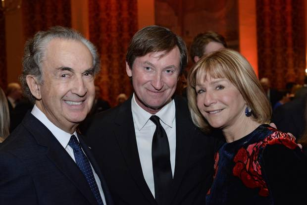Gerald Schwartz, Wayne Gretzky and Heather Reisman.