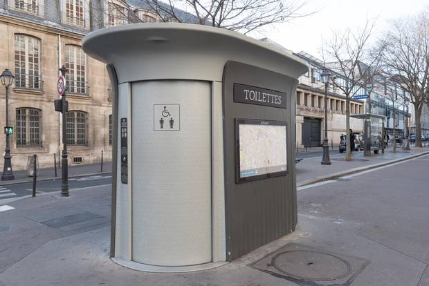 Paris has deployed 400 small, automated self-cleaning, street-level washrooms, called Sanisettes, around the city