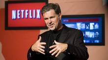 Reed Hastings, CEO of Netflix, announces Netflix's expansion to Canada in Toronto, on Wednesday, September 22, 2010. Netflix says Canadian Internet providers are using data caps to inflate their profits, not provide better service. (Adrien Veczan/Adrien Veczan/THE CANADIAN PRESS)