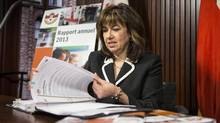 Ontario Auditor-General Bonnie Lysyk prepares to deliver the 2013 annual report on Dec. 10, 2013. Ontario Power Generation's director says the report's findings were like a 'bucket of cold water.' (Chris Young/The Canadian Press)
