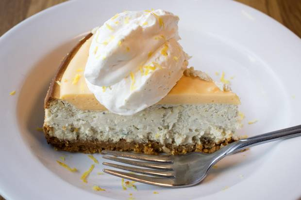The Eden's blue-cheese cheesecake.