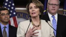 On Thursday, Nancy Pelosi, the ranking Democrat in the U.S. House of Representatives, said the oil that would flow to the Gulf Coast through Keystone XL 'is for export.' Supporters of the project, including major refiner Valero Energy Corp., maintain that's not true. (YURI GRIPAS/REUTERS)
