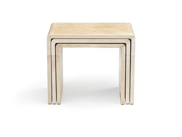 Rééditions Jean-Michel Frank par Hermès Inverted U-Nesting tables.