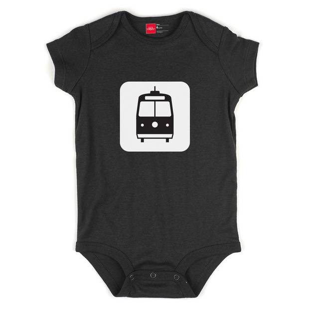 Give your favourite baby this onesie with a picture of a streetcar spread across the chest ($13.95).