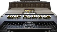 The entrance of a BNP Paribas branch in central Paris. The French bank has been trying to sell its retail banking business in Egypt for several months. (CHARLES PLATIAU/Reuters)