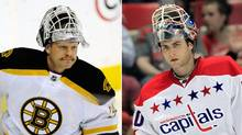 Boston's Tim Thomas and Washington's Brian Holtby