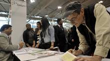 A job fair in Toronto. (J.P. MOCZULSKI For The Globe and Mail)