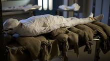 Alan Billis agreed to become a modern-day mummy, donating his body to test a new idea on how the Egyptians preserved their dead. (Callum Bulmer/Discovery Channel)