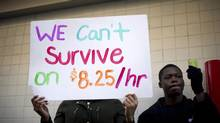 Since 2009, 54 per cent of the new jobs created in the U.S. have been low-wage positions (NOAH BERGER/REUTERS)