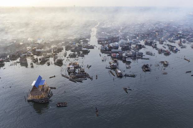 Baan's images of Kunle Adeyemi's floating school likely helped the Nigerian architect receive an award for a similar project at the Venice Biennale of Architecture.